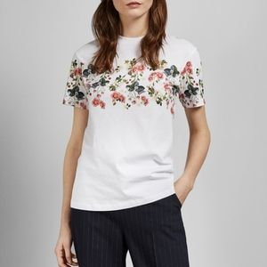 New Ted Baker Rogan Oracle printed cotton T-shirt